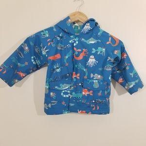 Hatley Sea monsters lined Rain Jacket